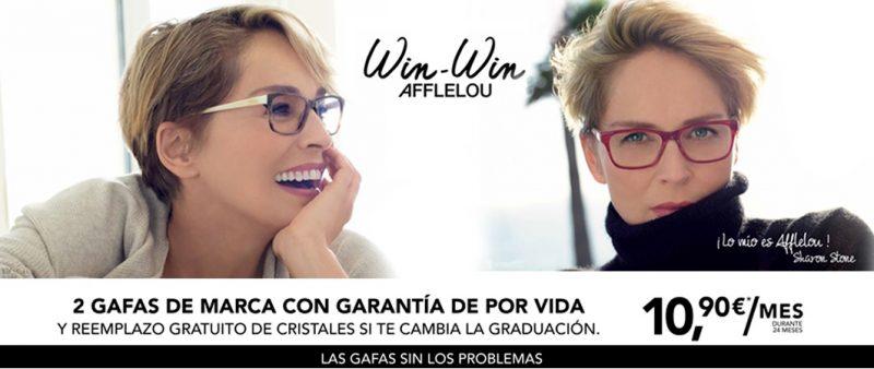 2 gafas de marca con garantía por 10'90€/mes