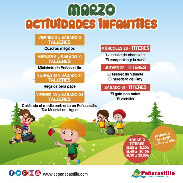 Talleres infantiles marzo centro comercial pe acastillo for Casitas infantiles carrefour