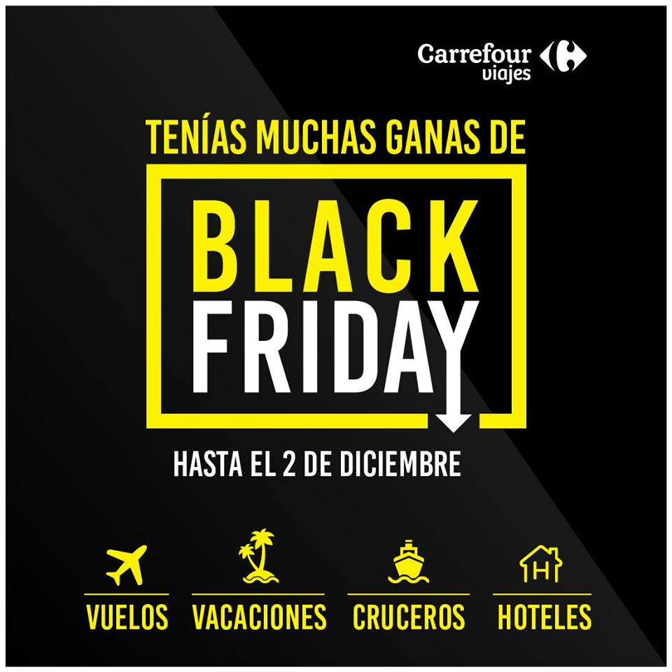 Black Friday en Viajes Carrefour.