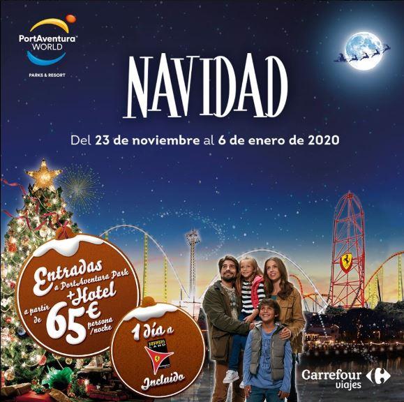 Estas Navidades, disfrutar de Port Aventura con Viajes Carrefour.